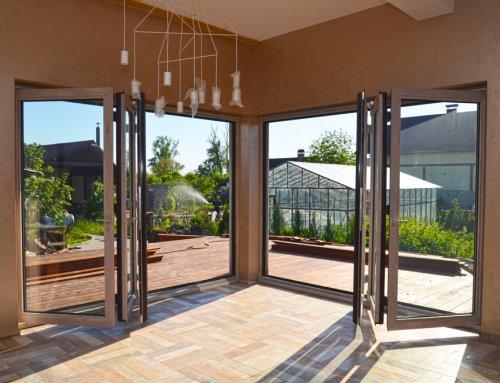 Алюминиевые двери гармошка TS75